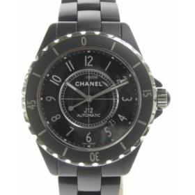 ec119c77af 【本物保証】 美品 シャネル CHANEL J12 メンズ オートマ 腕時計 黒文字盤 H3131