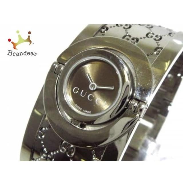 new styles b103a e1ff9 グッチ GUCCI 腕時計 トワールウォッチ 112 レディース ブラウン ...