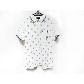 【中古】 パーリーゲイツ PEARLY GATES 半袖ポロシャツ サイズ5 XL メンズ 白 黒