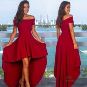 2019 春夏ドレス女性自由奔放に生きるロングドレスセクシーなオフショルダーパーティードレス不規則なマキシドレス Vestidos ローブは L