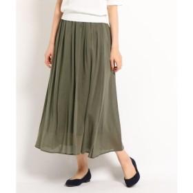 Dessin / デッサン 【洗える】キュプラコットンボイルスカート