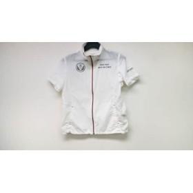 【中古】 マンシングウェア Munsingwear ブルゾン サイズM レディース 白 春・秋物/半袖