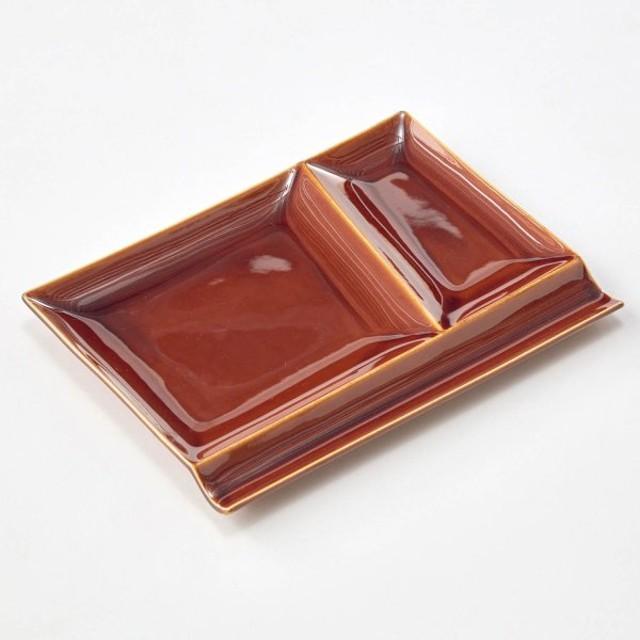 お皿 パレットプレート 美濃焼 「飴釉」