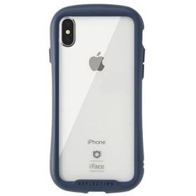 [iPhone XS/X専用]iFace Reflection強化ガラスクリアケース 41-907177 ネイビー