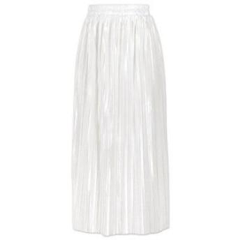 コウベレタス KOBE LETTUCE サテンプリーツスカート (ホワイト)