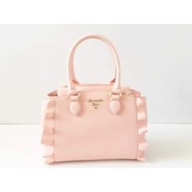 【中古】 サマンサベガ Samantha Vega ハンドバッグ 美品 ピンク 合皮