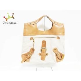 バルトロゼ BARDOTROSE ハンドバッグ ベージュ×ブラウン キャンバス×レザー   スペシャル特価 20190803