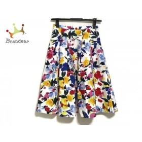 チェスティ Chesty スカート サイズ0 XS レディース 白×レッド×マルチ 花柄     スペシャル特価 20190803