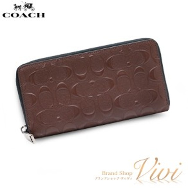 new products 701d5 e977e コーチ メンズ 長財布 COACH ACCORDION ZIP WALLET ラウンド ...