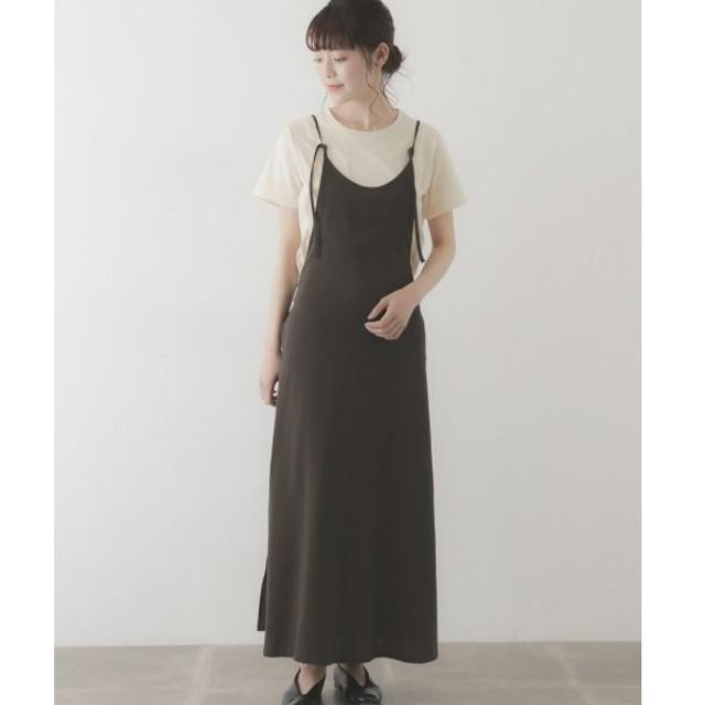 かぐれ / かぐれ unfil double crepe apron dress