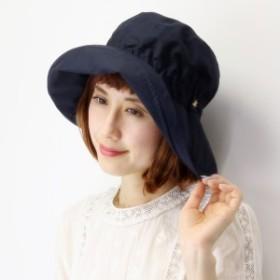 ハット レディース UVカット帽子 日よけ 春夏 つば広 帽子 無地 シンプル 綿100% ゴム入り 撥水