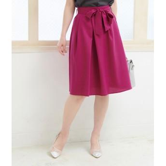 ロングスカート - ROPE' PICNIC 重ねタックリボン付きスカート
