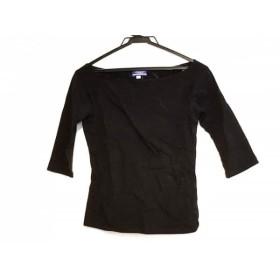 【中古】 バーバリーブルーレーベル Burberry Blue Label 七分袖Tシャツ サイズM レディース 黒