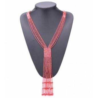 フリンジ ロング ボヘミア 合わせやすい 気質アップ 編み物 レディース ネックレス