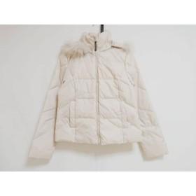【中古】 アンタイトル UNTITLED ダウンジャケット サイズ3 L レディース ベージュ 冬物/ファー