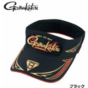 がまかつ サンバイザー GM-9856 ブラック Lサイズ / 帽子(お取り寄せ商品)