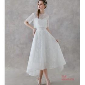 ミニドレス 白 安い 発表会 花嫁 パーティードレス ウンピース ウエディングミニドレス ウエディングドレス お呼ばれドレス 結婚式 披露