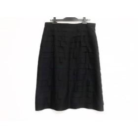 【中古】 レリアン Leilian スカート サイズ15+ L レディース 黒 フリル