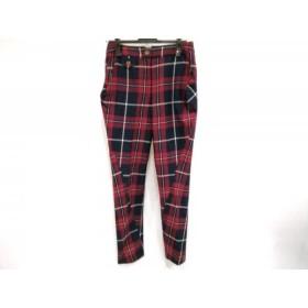 【中古】 ヴィヴィアンウエストウッド パンツ サイズ2 M レディース レッド ネイビー マルチ チェック柄
