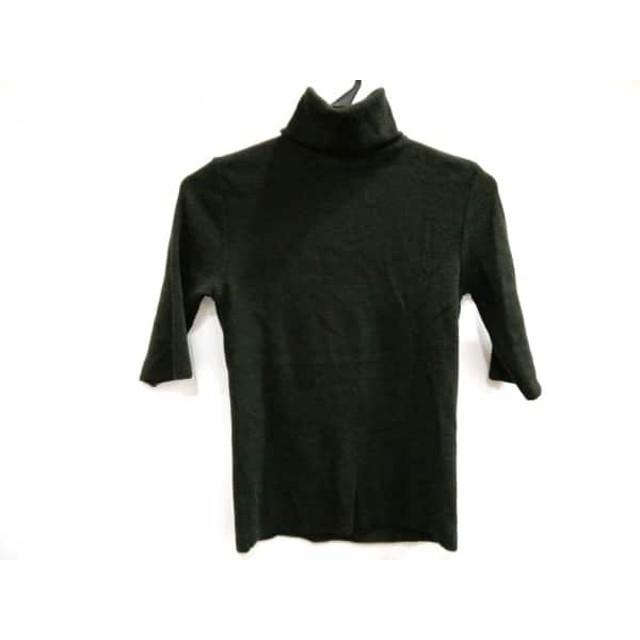 【中古】 ザノーネ ZANONE 半袖セーター サイズ42 L レディース カーキ ショート丈/タートルネック
