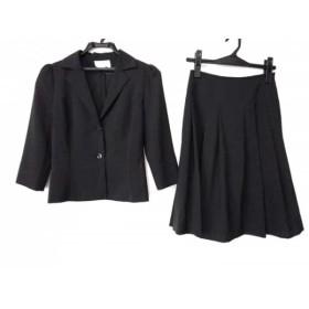 【中古】 ナチュラルビューティー NATURAL BEAUTY スカートスーツ サイズS レディース 黒