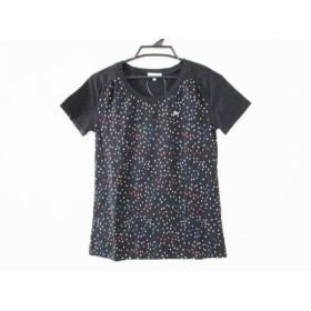 【中古】 ラコステ Lacoste 半袖Tシャツ サイズ40 M レディース 黒 マルチ