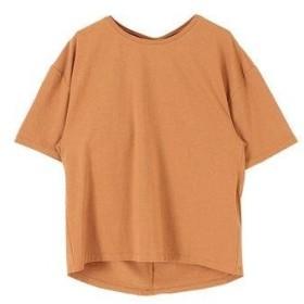 ティティベイト titivate バックツイストTシャツ (ライトブラウン)
