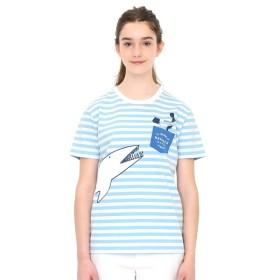 [マルイ]【セール】【ユニセックス】シャークボーダーTシャツ/プレイングシャーク/グラニフ(graniph)