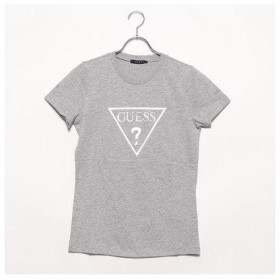 ゲス GUESS TRIANGLE LOGO TEE (MELANGE GREY)