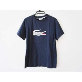 【中古】 ラコステ Lacoste 半袖Tシャツ サイズL(US) メンズ ネイビー アイボリー