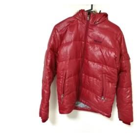 【中古】 マーモット Marmot ダウンジャケット レディース レッド ジップアップ/冬物