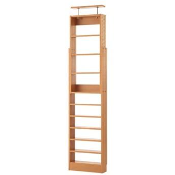 本棚 書棚 ブックシェルフ 奥行15cmの薄型突っ張り本棚 「ナチュラル」