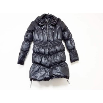 【中古】 ビッキー VICKY ダウンコート サイズ1 S レディース 黒 冬物/ファー
