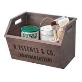 収納ケース/レターケース 【ブラウン】 幅38cm 木製 『スタッキングボックス』 〔リビング ダイニング ベッドルーム〕