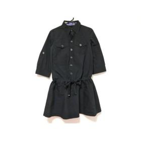【中古】 バーバリーブルーレーベル ワンピース サイズ38 M レディース 美品 黒 シャツワンピ
