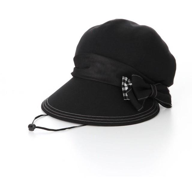2aa057dabf214 帽子 ベルメゾン 風で飛びにくいキャスケット カラー 「ブラック×ギンガムチェック」
