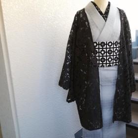粋☆きものジャケット・レース(長め)/松葉鼠