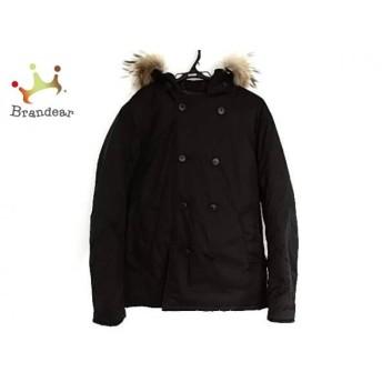 ビューティアンドユース ユナイテッドアローズ ダウンジャケット メンズ 美品 黒×ブラウン 新着 20190419