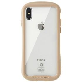 [iPhone XS/X専用]iFace Reflection強化ガラスクリアケース 41-907191 ベージュ