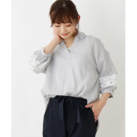 SHOO・LA・RUE/DRESKIP(シューラルー/ドレスキップ) 【2点セット】袖レーススキッパーシャツ
