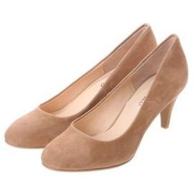アンタイトル シューズ UNTITLED shoes ラウンドプレーンパンプス UT9200 (ベージュスエード)