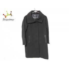 ダナキャラン DKNY コート サイズ4 XL レディース 黒 ジップアップ/一部フェイクレザー/冬物 新着 20190419