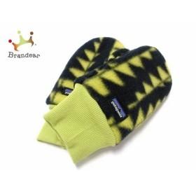 パタゴニア Patagonia 手袋 メンズ 黒×ライトグリーン 子供手袋 ポリエステル 新着 20190419