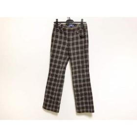 【中古】 バーバリーブルーレーベル パンツ サイズ36 S レディース ダークブラウン ベージュ ピンク