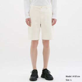 (GU)チノイージーハーフパンツ OFF WHITE XL