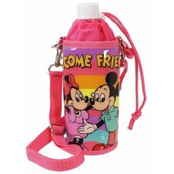 ミッキー&フレンズ ペットボトルホルダー 保冷 ボトルケース ディズニー ショルダーストラップ付き キャラクター グッズ
