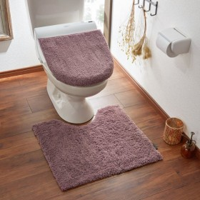 トイレマット ふんわり 洗える すべりにくい シンプル おしゃれ ワイン 標準マットのみ