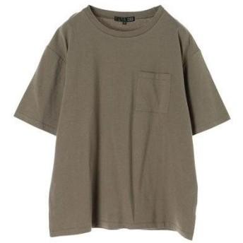 グリーンパークス Green Parks ・ポケット付ビッグTシャツ (Khaki)