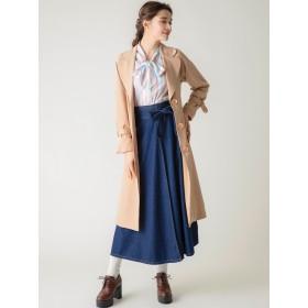 デニムスカート - dazzlin 【C】ウエストリボンデニムラップスカート