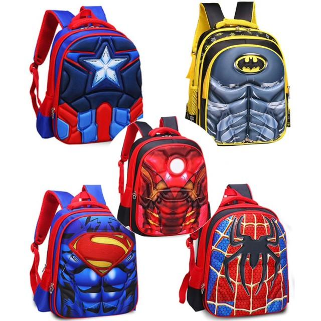 バッグ キャプテン・アメリカ アイアンマン リュックサック バックパック デイパック スパイダーマン バットマン スーパーマン スーパーヒーロー キッズBAG 遠足 通学 おしゃれ かばん 鞄